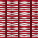 Red and white horizontal striped knitting pattern background Stock Images