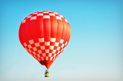 Red and White Hot Air Balloon Stock Photo