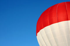 Red and White Hot Air Balloon Royalty Free Stock Images