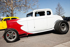 Red and White Hot Rod Car Stock Images