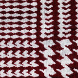 Red and white houndstooth pattern textile background Stock Image