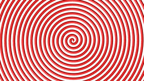 Red and white hypnotic circle Stock Image