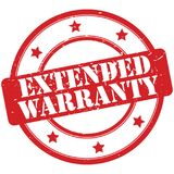 Extended warranty stamp Royalty Free Stock Photography