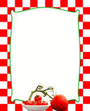 Red and White Italian Background (Tomatoes) Stock Photography
