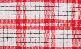 Red and white kitchen towel Stock Image