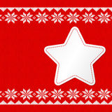 Red white knitted background with copy space Stock Image