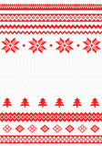 Red and white knitted background Royalty Free Stock Image