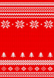 Red and white knitted background Stock Images