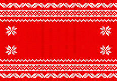 Red and white knitted background Stock Photos