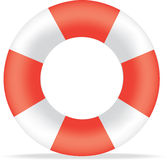 Red and white life bouy Royalty Free Stock Image