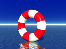 Red and white life guard ring Royalty Free Stock Photos