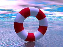 Red and white life guard ring Stock Photo
