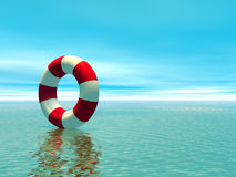 Red and white life guard ring Stock Image