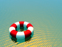Red and white life guard ring Royalty Free Stock Image
