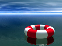 Red and white life guard ring Royalty Free Stock Photo