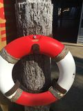 Red and white life preserver ring. Lifebuoy life preserver ring flotation device nautical Royalty Free Stock Photos
