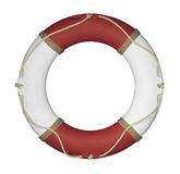 Red and White Life Ring Stock Image