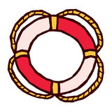 Red and white Lifebuoy stylized vector Stock Photo