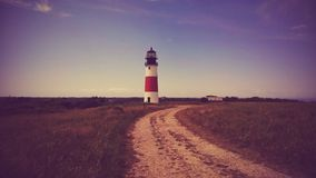 Red and White Light Tower Royalty Free Stock Photography