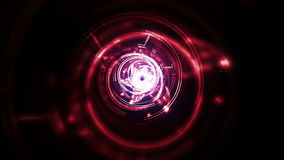 Red and white light tunnel stock video footage