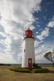 Red and white lighthouse, Australia Stock Photo