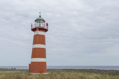 Red and White Lighthouse Stock Image