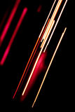 Red and white lines on black Royalty Free Stock Photo