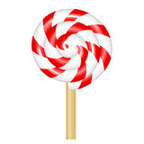 Red and white lollipop Stock Images