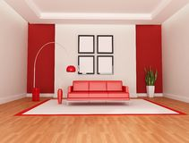 Red and white lounge Stock Photos