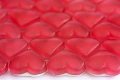 Red and white love heart sweets Royalty Free Stock Images