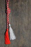 Red and white March 1 trinket Royalty Free Stock Photo