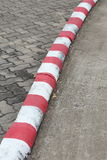 Red and white marking sign Royalty Free Stock Photos