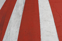 Red-white marking of a zebra of the crosswalk Royalty Free Stock Images