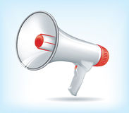 Red and White megaphone Stock Photography