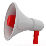 Red and White Megaphone Royalty Free Stock Photo