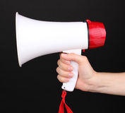 Red and white megaphone Stock Photos