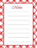 Red White Menu Stock Photos