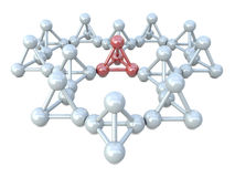 Red and white molecular structures Stock Photography