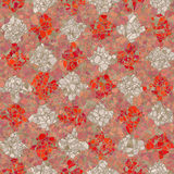 Red and white mosaic pattern Stock Photo