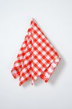 Red and white napkin Stock Images