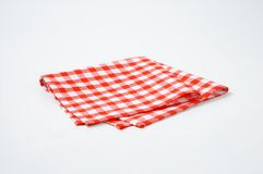 Red and white napkin Stock Photography