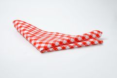 Red and white napkin Royalty Free Stock Photo
