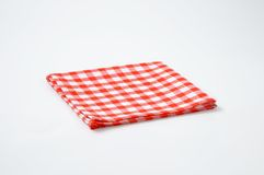 Red and white napkin Royalty Free Stock Image