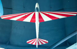 Red and white old airplane Royalty Free Stock Photo
