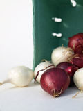 Red and white onions Stock Photo