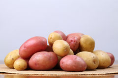 Red and white organic potatoes Royalty Free Stock Photos