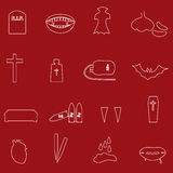 Red and white outline vampire icons eps10 Royalty Free Stock Photo