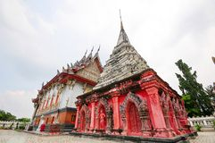 Red and white Pagoda Royalty Free Stock Photo