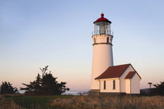 Red and White Painted Lighthouse Stock Image