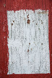 Red and white painted wooden panel, background, wallpaper Stock Image